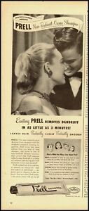 Image Is Loading 1950 039 S Vintage Ad For Prell Shampoo