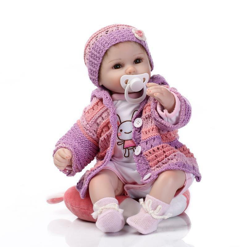 18  realista Bebe Reborn Bebé Niñas Muñeca Silicona Reborn Bebé Recién Nacido Regalos De Vinilo