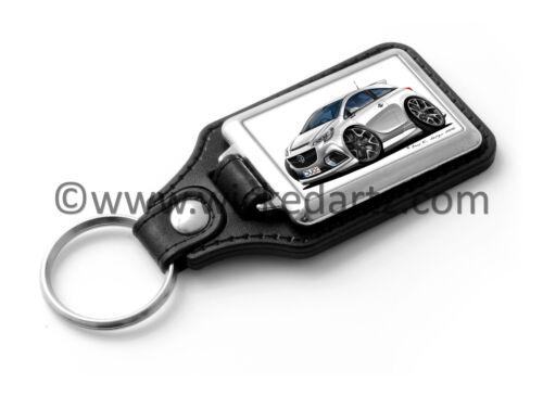 VXR//SRi in White Key Ring WickedKarz Cartoon Car Vauxhall Corsa E 2015