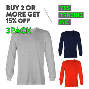 7915ebe0a12 3 PACK AAA ALSTYLE 1304 MENS CASUAL LONG SLEEVE T SHIRT COTTON ...