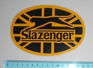 ADESIVO-VINTAGE-STICKER-AUTOCOLLANT-SLAZENGER-ANNI-039-80-15x10-cm-BELLO-E-RARO