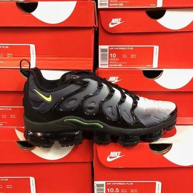 Nike Air Vapormax Plus Size: Black Volt 924453-009 New Men Size: Plus 8-13 ec9e32