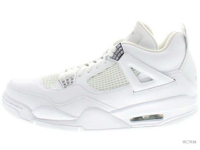 AIR JORDAN 4 RETRO 408202-101 white metallic silver 4 Size 10.5