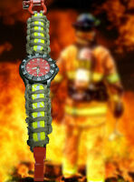 Firefighter Smith & Wesson Watch W/ Cust. Bunker Turnout Gear Paracord 550 Band