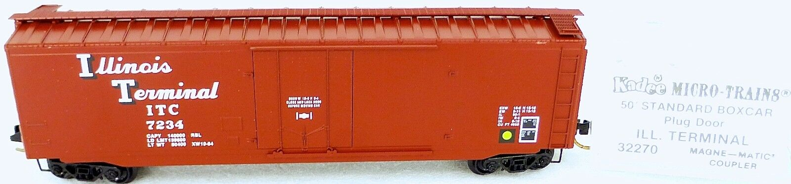 50' standard boxcar ill terminal 7234 micro trains line 32270 n 1 160 C å