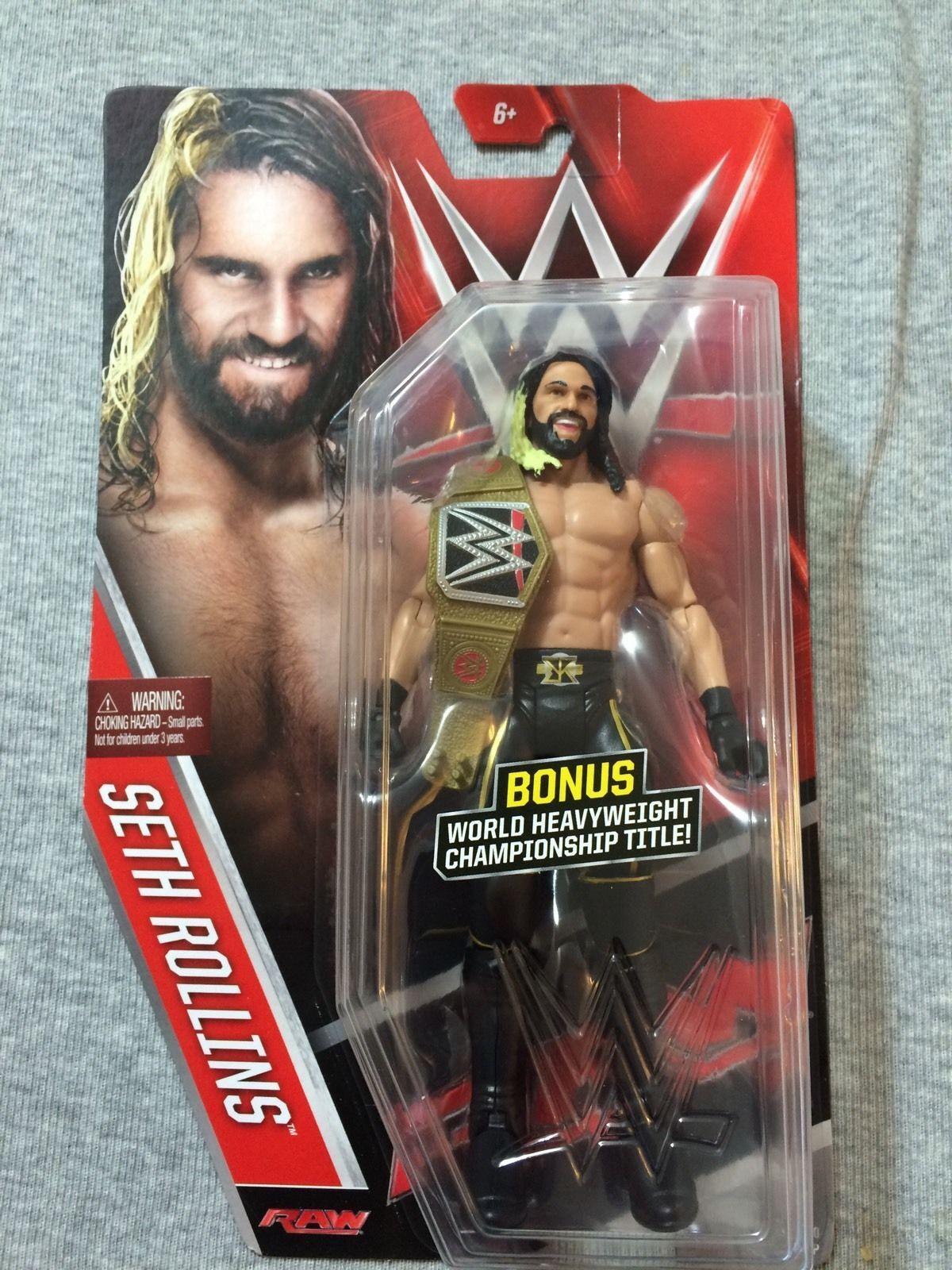 punto de venta Wwe Seth Rollins Rollins Rollins Nuevo Persecución Belt Serie 60 Básico Acción  ¡No dudes! ¡Compra ahora!