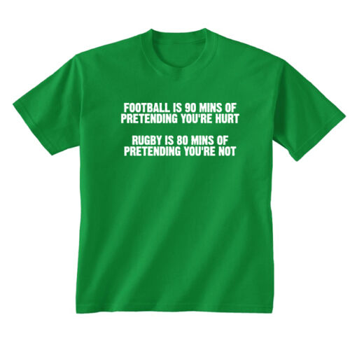 Kids Childrens Rugby vs Football Funny Slogan Sports T-shirt 5-13 Years