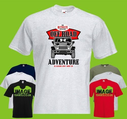 Off Road Adventure Mens PRINTED T-SHIRT Jeep Car Classic Vintage Ultimate