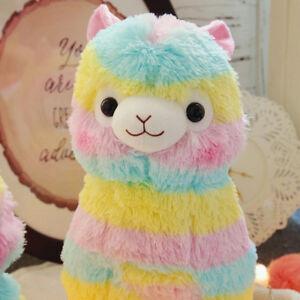 Kids-Doll-Toy-Rainbow-Alpacasso-Kawaii-Alpaca-Llama-Alpacasso-Soft-Plush-Lovely
