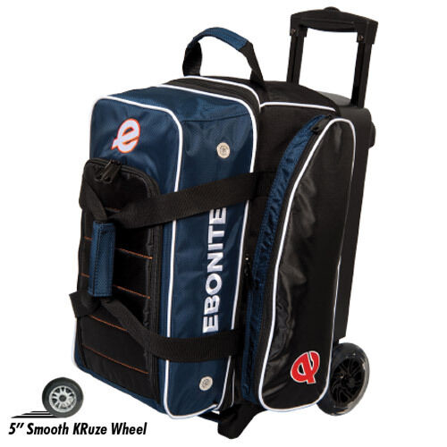 Ebonite Eclipse Double Roller 2 Ball Bowling Bag Navy