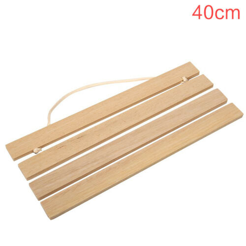 21//30//40//50cm Wooden Photo Hanger Frame Scroll Print Poster Picture Home Decor