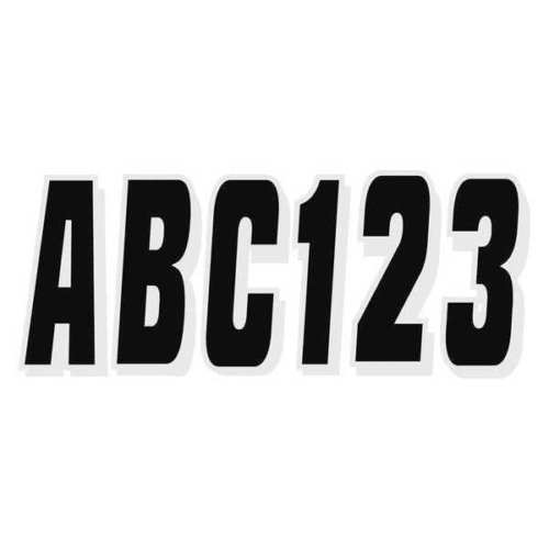 3 in Letters and Number Kit Black