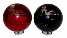 Chrome Lady Black / Red Custom Tractor Trailer Air Brake Dash Knobs Peterbilt