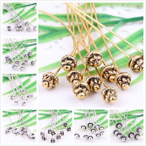 Wholesale 15Pcs Silver Golden Tone Long Head Pins Finding U Pick Color