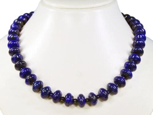 Hermosa piedras preciosas collar de lapis lazuli en radform
