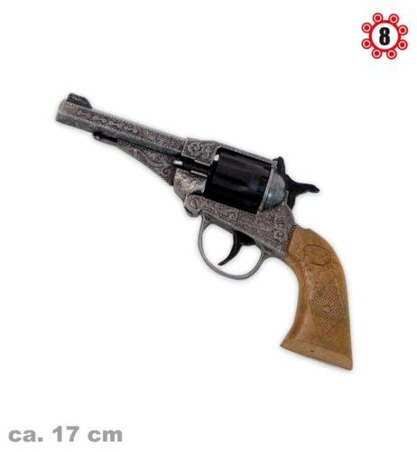 Revolver Sterling Antik-Optik Metall 8-Schuss Deko Kinder Spiel Waffe Theater