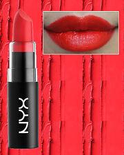 NYX - MATTE LIPSTICK - PURE RED - MLS08 - BRIGHT ORANGE RED - NON DRYING MATTE