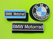 BMW  MOTORRAD KIT 3 PATCH TOPPE RICAMATE CON NASTRO A STRAPPO