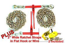 516 Transport Hauling 2 Ratchet Binders 10 Foot Chains Ratchet Straps
