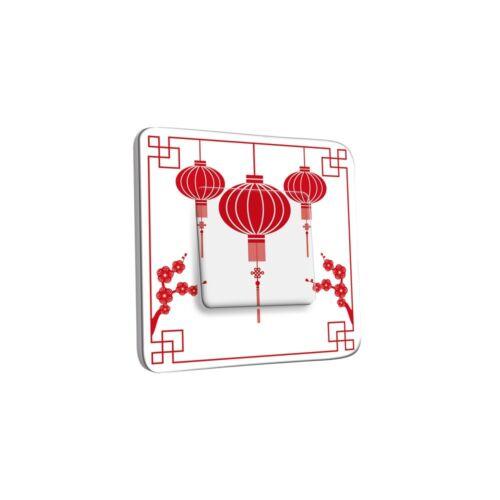 Interrupteur Décoré Simple Va et Vient Design Chinois Ref INTER-S-362