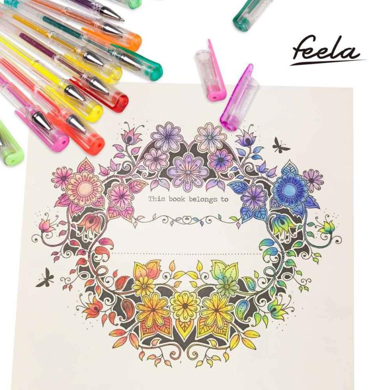 Feela 360 Colors Gel Pens Set 180 Unique Gel Pen Plus 180 Refills for Adult Colo