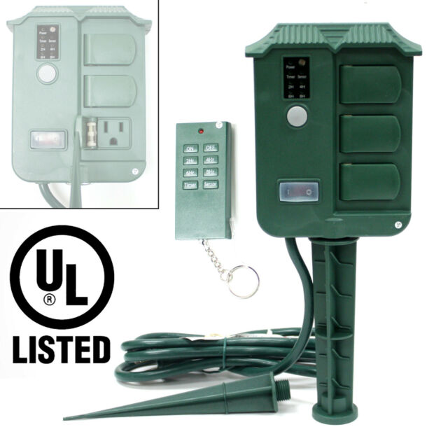 Outdoor Yard Landscape 6 Stake, Outdoor Timer For Lights With Remote