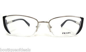 Authentic Designer Eyeglass Frames : Prada VPR 60N Black Designer Eyeglass Frames 52-17-130 New ...