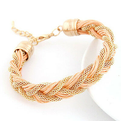 Charming Jewelry Handmade Bracelets For Women metal winding bracelet with a rope