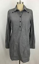 The North Face Women's M Medium Gray Shirt Tunic Dress Top Long Sleeve Pockets