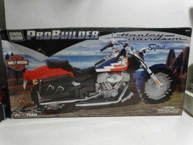 Harley Davidson Probuilder Softail Motorcycle Parts Mega Bloks 9771 For Sale Online Ebay