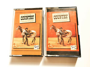 V-A-STARS-OF-COUNTRY-2-Cassettes-Tapes-Albums-Cassette-Tape-Oldies-Music-Tracks