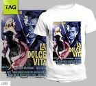 T-SHIRT LA DOLCE VITA FEDERICO FELLINI ITALIAN MOVIE FILM CINEMA tees tshirt