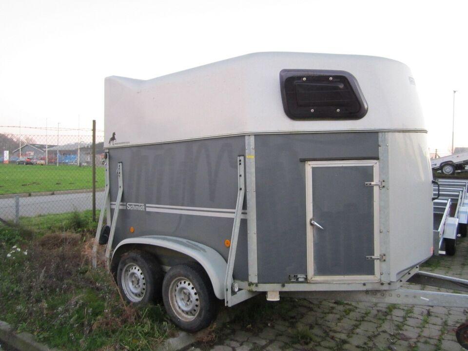 Trailer Schmidt 3 pony / Islænder med saddelskab, lastevne