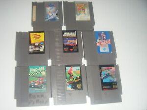 Nintendo (NES) Games lot of 8: Top Gun Track & Field II R.C. Pro Am Jeopardy
