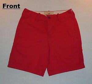 Hollister Women/Teen Girl Red Denim Shorts - 100% Cotton - Size ...