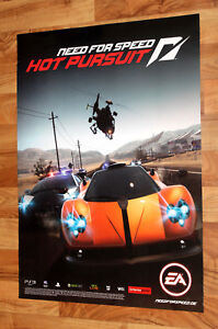 Need For Speed Hot Pursuit Very Rare Promo Poster Playstation 3