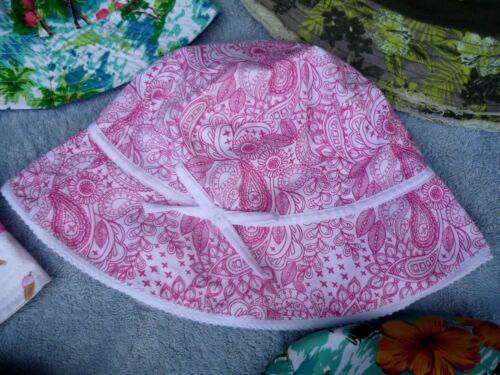Ex Store garçons filles bleu rose vert soleil d/'été chapeau bonnet 1-2 7-8-9-10 ans
