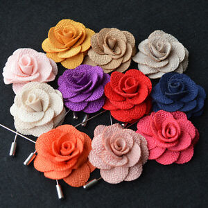 Wedding-Flower-Daisy-Boutonniere-Men-039-s-Suit-Handmade-Brooch-Lapel-Pin-Decor