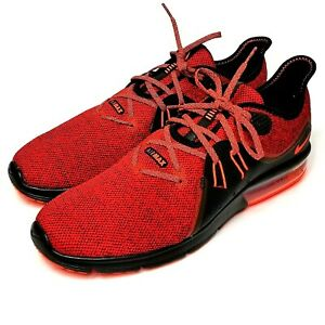 1547365508 Nike Air Max Sequent 3 Running Athletic Shoes 921694-066 Red Black ...