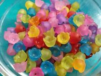 Flower Beads Assorted Colors 10mm Acrylic Beads Wholesale Bulk 50 pieces