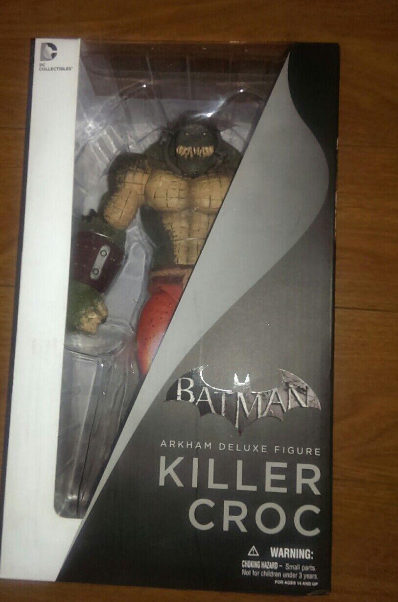 DC COLLECTIBLES: Batman Arkham Deluxe Figure, Killer Croc