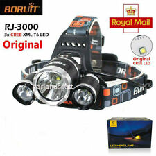 5000LM 3x CREE XM-L T6 LED Headlight Light Headlamp Flashlight Lamp + Battery UK