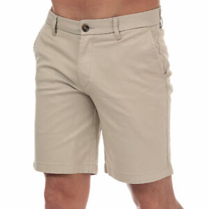 Homme-Ben-Sherman-Stretch-Short-Chino-en-pierre-Braguette-Zippee-Poches-a-cotes