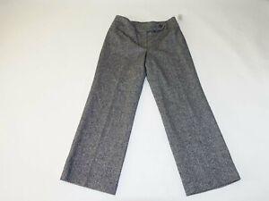 Talbots Mujer Tweed Vestido De Pantalones Talla 10 Petite Nuevo Con Etiquetas Gris Pantalones Frente Plano 10p Ebay