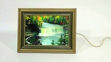 Vintage motion light up Waterfall framed picture with sound of water and birds