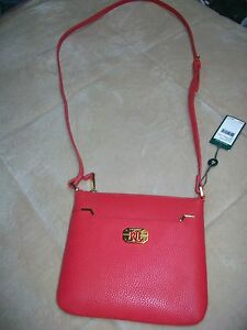 a03e691a06 Image is loading Lauren-Ralph-Lauren-ACADIA-Crossbody-Purse-RED-NWT