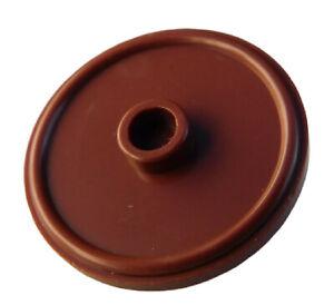 Lego-2-Stueck-rundes-Schild-Griff-braun-reddish-brown-91884-Schilder-rund-Neu
