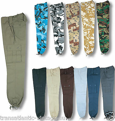 MENS US M65 STYLE COMBAT TROUSER ARMY CARGO BDU MILITARY RANGER WORK CAMO PANTS