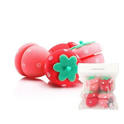 [ETUDE HOUSE]  Strawberry Sponge Hair Roll 4pcs
