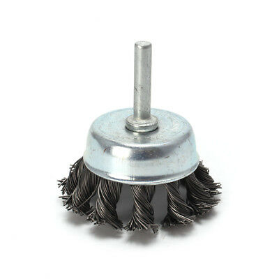 """3/'/' Metal Wire Wheel Cup Brush Crimped With 1//4/"""" Shank For Die Grinder Drill"""